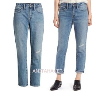 Grant High Waist Ankle Boyfriend Jeans